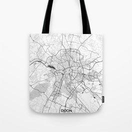 Dijon Map Gray Tote Bag