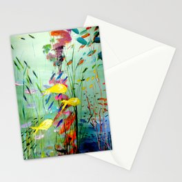 Yellow Fish Stationery Cards