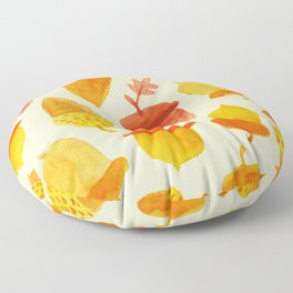 Acorns - Off White Floor Pillow