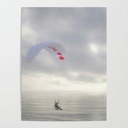 """""""Paraglider 4"""" by Murray Bolesta Poster"""