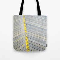 boardwalk empire Tote Bags featuring BOARDWALK by TMCdesigns