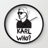 karl Wall Clocks featuring Karl who? by Muneera B