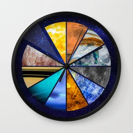 Part of the universe - Solar sistem Wall Clock