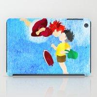 ponyo iPad Cases featuring Ponyo and Sosuke by foreverwars