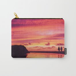 2 friends at the beach Carry-All Pouch