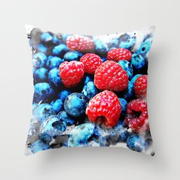 Fruits and berrys V Throw Pillow
