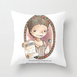 Gregoria Casas Throw Pillow