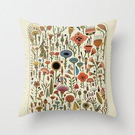 Wildflower Chart Throw Pillow