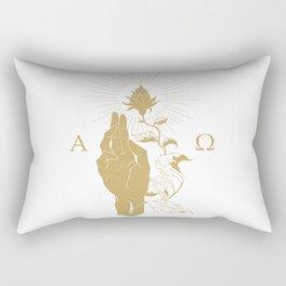 Alpha and Omega Rectangular Pillow