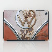 vw iPad Cases featuring Rusty VW by KitKatDesigns