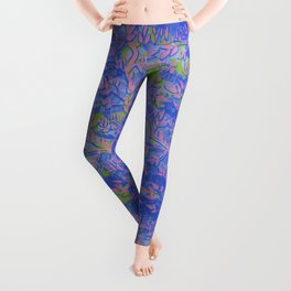 Shoots, Stems and Leaves abstract Leggings