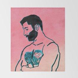 Man in Love Throw Blanket