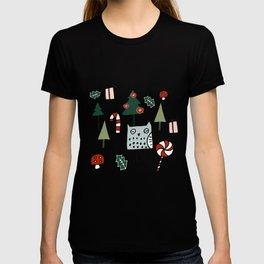 Christmas Owl Green #Christmas #Holiday T-shirt