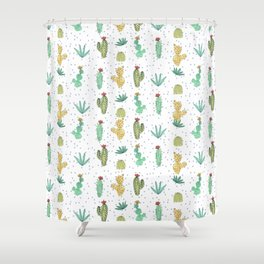 Cactus SERIE - CACTI LOVE Shower Curtain