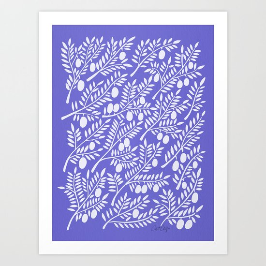 Olive Branches – Periwinkle Art Print