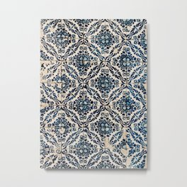 Azulejo IX - Portuguese hand painted tiles Metal Print