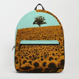 Sunflowers in green Backpack