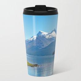 Morning at Lake Maligne Travel Mug