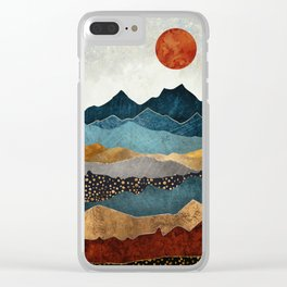 Amber Dusk Clear iPhone Case