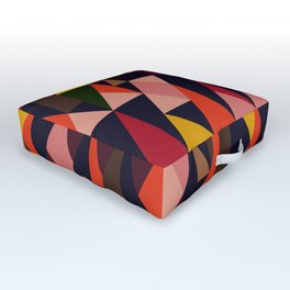 Vintage vibes_in warm hues Outdoor Floor Cushion