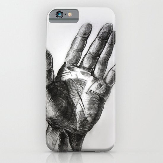 hand drawing hand iPhone & iPod Case