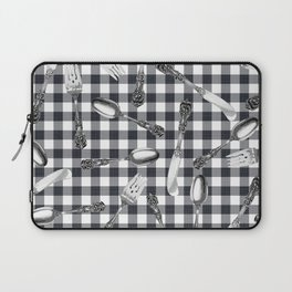Utensils on Black Picnic Blanket Laptop Sleeve