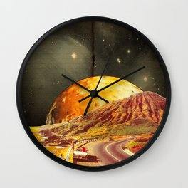 Golden coast Wall Clock