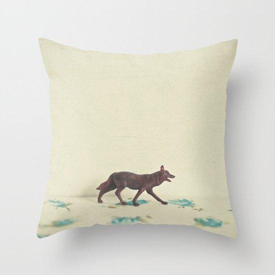 Wandering Wolf Throw Pillow