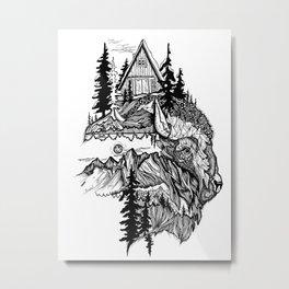 White Buffalo Metal Print