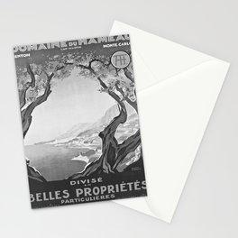 retro vintage Hameau poster Stationery Cards