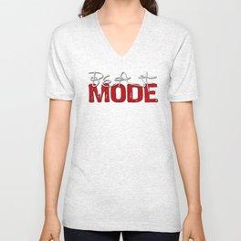 Beast Mode / Red and White Unisex V-Neck