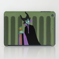 maleficent iPad Cases featuring Maleficent by DROIDMONKEY