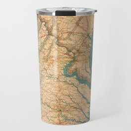 Vintage Map of Virginia and The Chesapeake Bay (1862) Travel Mug