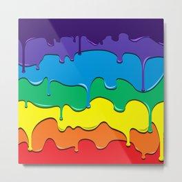Rainbow Drip Metal Print