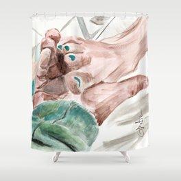 Bunny Lebowski Shower Curtain