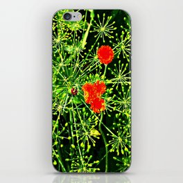 Neon floral burst of energy iPhone Skin