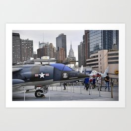 A British Harrier Jet in New York Art Print