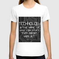 technology T-shirts featuring Technology by Hollie B
