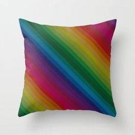 Sophisticated Rainbow Throw Pillow