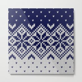 Winter knitted pattern 9 Metal Print