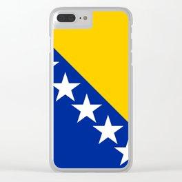 Bosnia And Herzegovina Flag Clear iPhone Case