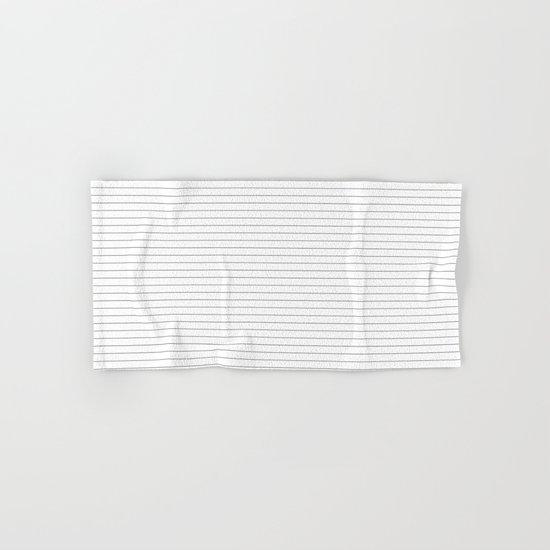 White Black Lines Minimalist Hand & Bath Towel