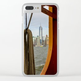 Freedom Tower through The Boat Clear iPhone Case