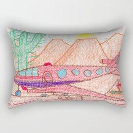 Desert Runway Rectangular Pillow