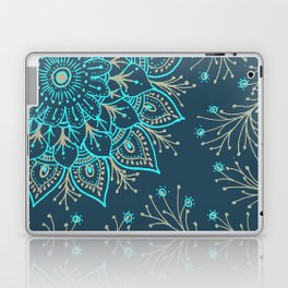 Teal Gold Mandala Laptop & iPad Skin