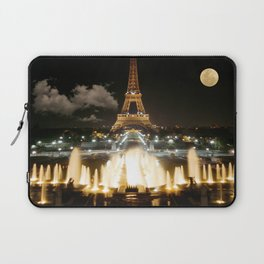Eiffel Tower at Night Laptop Sleeve