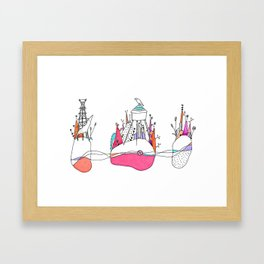 The Wolf and watertower. Framed Art Print