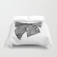 bow Duvet Covers featuring Bow by Samantha Turnbull