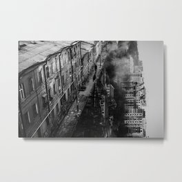 Walking in Gravity Metal Print