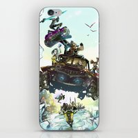 borderlands iPhone & iPod Skins featuring Borderlands Catch a Ride! by Donna A. / Karniz